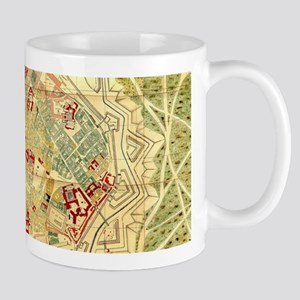 Vintage Map of Vienna Austria (1710) Mugs